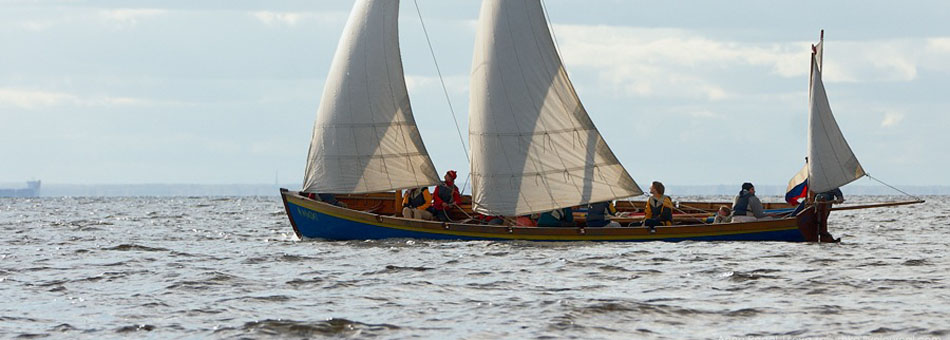 Set gig sails in the Baltic